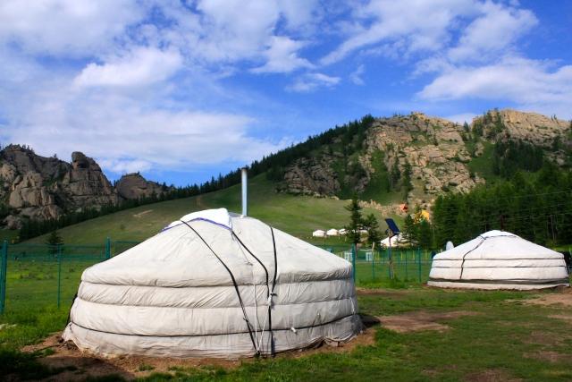 モンゴル人の家